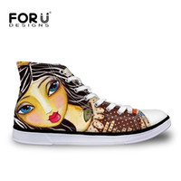 band illustrations - 2016 Women Casual Shoes Women Canvas Shoes Fashion Cute Cartoon Illustration Girl Lacing Flat Shoes For Lady Femal High Top Shoe