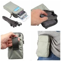 belt pouch bag - For Iphone Plus S Galaxy Note S7 Edge S6 Plus Clip Zipper Universal inch Phone Cloth Bag Hip Pouch Card Slot Belt Handbag Strap