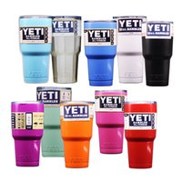 Wholesale Yeti oz oz oz oz Yeti Cups Yeti Coolers Colors Rambler Cups YETI Rambler Travel Vehicle Beer Mug Double Wall Bilayer
