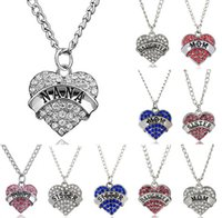 FDA best sister - Mother s Day Best Gift Mom Daughter Sister Grandma Nana Aunt Family Necklace Crystal Heart Pendant Rhinestone Women Jewelry