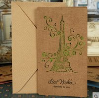 beautiful commercials - Beautiful Eiffel Tower Commercial birthday greeting card gift brief blessing cards stationery supplier mm