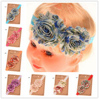 baptism gift girl - 16PCS Chiffon Frayed Flower Baby Hair Bows Boutique headband Newborn Baptism Gift infant girls Hair Accessory