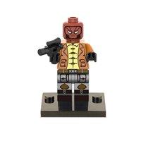 aqua hood - Building Blocks Super Heroes Minifigures Deathstroke Red Hood Aqua Man Pirates Batman Lex Luther Superman Mini Figures Toys