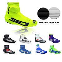 Wholesale 2016 Tour De France SI DI Cycling Shoes Cover Winter Thermal Fleece MTB Shoe Cover Cycling Shoes Cover Cycling Protective Gear Over Shoes
