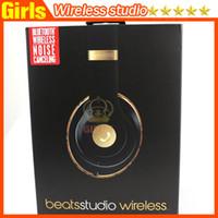 beat wireless - High Quality Used Beats studio Wireless Headphones Noise Cancel Bluetooth Headphones Headset with seal retail box