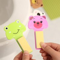 Wholesale Product Life Cute Cartoon Portable Device handle bathroom toilet lid toilet lid bathroom accessories Sticker Bath