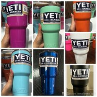Wholesale YETI Rambler Tumbler oz Powder Coated in stock Stainless Steel Tumbler Travel Mug Powder Coated Tumbler with Lid color KKA620