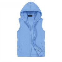 Wholesale Fall Mens Jacket Sleeveless veste homme Winter Fashion Casual Coats Male Hooded Cotton HIp Hop Mens Vest men Thickening Waistcoat XL