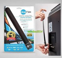 Wholesale 25PCS Clear Tv key HDTV digital indoor antenna sleek slim design hidden behind TV Get broadcast tv for free