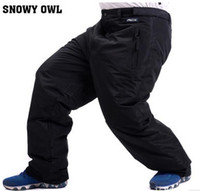 Wholesale Winter Snowboard Pants For Men Outdoor windproof Large size snow pants trousers warm Breathable Thicken Male Professional Skiing Pants