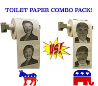Wholesale Free ship FEDEXIE Hillary Clinton Donald Trump Toilet Paper Hillary VS Trump Election Novelty Gag Hilarious Stocking Stuffer