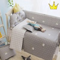 Wholesale Little pricess gray boy bedding sets with sheet quilt pillow sets