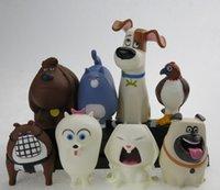 Wholesale The Secret Life of Pets PVC Dolls Toys Children Style Secret Life of Pets Cartoon Soft Solls Toy CM K7663