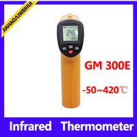 Wholesale infrared surface thermometerwith C portable thermometer GM300E temperature detectors with skin packing MOQ