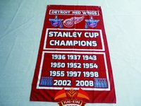 Wholesale Detroit Red Wings Nation Flag ft x ft Polyester NHL Detroit Red Wings Banner Size cm Custom flag