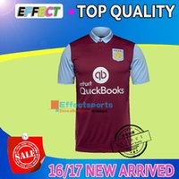 aston villa - New Arrived Top Quality Aston Villa home red Soccer Jerseys Maillot de foot Short sleeve Middlesbrough Home Away football shirts