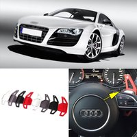 Wholesale 2pcs Brand New High Quality Alloy Add On Steering Wheel DSG Paddle Shifters Extension For Audi R8
