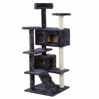 Wholesale New Cat Tree Tower Condo Furniture Scratch Post Kitty Pet House Play Gray PS5791GR