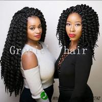 Wholesale 18 quot Strands g pack Best Quality Crotchet Braids Synthetic Kanekalon Braiding Hair Crochet Braids Box Braids Hair Extensions