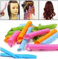 Wholesale DIY MAGIC LEVERAG Magic Hair Curler Roller Magic Circle Hair Styling Rollers Curlers Leverag perm Hair Care Styling Tools D576 set