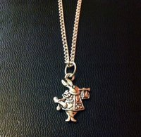 alice bag - ALICE IN WONDERLAND RABBIT CHARM NECKLACE quot SILVER CHAIN IN GIFT BAG