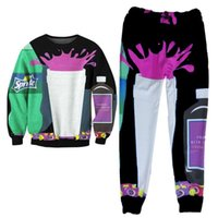 Wholesale Mens Casual Jogger Dance Sportwear Baggy Harem Pants Slacks Trousers Sweatpants Black Dirty Sprite D Print Sweatshirts tracksuits for Women