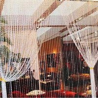 Wholesale New Arrive window door curtain passage wedding backdrop meters Garland Strand Acrylic crystal beads curtain