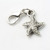 antique float - MIC x29 mm Antique Silver Dancing Flake Star Starfish Sea Star Charms Heart Floating Lobster Clasps Charm for Glass Living C123