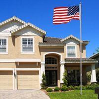 aluminum flag poles - 20Ft Sectional Flag Pole Kit x5 US Flag Aluminum Pole Screwdriver Fly Flags