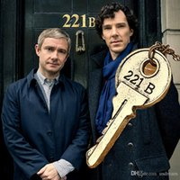 bbc jewelry - 2 colors BBC Movie jewelry Sherlock necklace B Key pendant necklace women retro statement jewelry