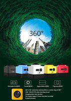 Wholesale CUBE360 Mini Sports Action Camera Panoramic VR Cameras Wide Angle P x190 HD Video Camcorder Build in WiFi Cam