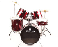 Wholesale The new authentic two tone drums adult drum drum exercise performance seven drums drums red drums black drums