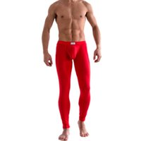 Wholesale Hot Selling Men s Solid Color Underpants Long Johns Pants Thermal Low Rise Warm Underwear M L XL