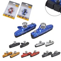 Wholesale Pair Mountain Road Bicycle Cycling Folding Bike V Brake Pads Holder Rubber Blocks C Clamp Durable Parts