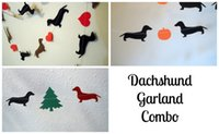 Wholesale Dachshund Holiday Garlands Combo Pack Valentine s Halloween Christmas