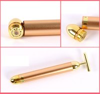 Wholesale Beauty Bar Energy Beauty Bar Gold Pulse Firming Massager Facial Roller Massage Facial Body Massage Relaxation With Boxes