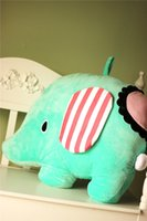 baby grows doll - 2016 New China toy elephant pillows dolls and plush toys with the baby grow green cm cm