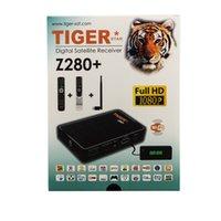 al por mayor cajas de cable digital-Receptor de Satélite Digital Tiger Z280 plus Set de Cable Top Box Precio de Soporte 3 Meses de IPTV y un año Zshare