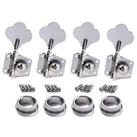 bass guitar gear - 4R Bass Guitar Machine Heads Tuners Open Geared Chrome Tuning pegs keys For Fender Bass