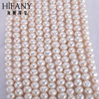 Wholesale 7 mm Oval LevelAAA Zhuji natural fresh water pearl with fillet of screw cm staple goods jewelry DIY pearl farm