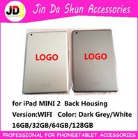 Wholesale With LOGO IMEI Code For iPad Mini Version WIFI Back Battery Cover Case Housing Door Rear Housing gb gb gb gb