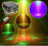 Wholesale free shiping Lens Patterns RG Laser BLUE LED Stage Lighting DJ Show Light Green Red Home Professional Light