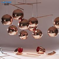 Wholesale 15cm cm cm cm cm Tom Dixon Mirror Ball Light Pendant Lamp E27 Bulb Plated glass ball pendant light indoor lighting bar stair