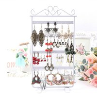 acylic stand - Acylic Earrings Display Hole Rack Organizers Showcase Stand Holder Hanging Hanger Base White HB88