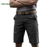 Wholesale FREE SOLDIER Outdoor tactical thin and soft shell shorts Men s summer elastic and waterproof loose fifth short pants