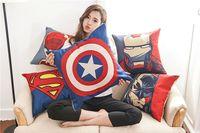 Wholesale Avengers cushion case Marvels pillow case superman batman Printed Cushion Cover linen Pillow Cover Cartoon Home Textiles DHL free