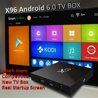 achat en gros de wifi airplay-Véritable X96 Android Smart TV BOX Amlogic S905X Streaming Media Player Wifi Miracast Airplay entièrement chargé Mini PC