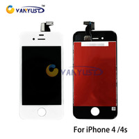 Cheap LCD Display Touch Digitizer Complete Screen Panels Full Assembly with Frame Replacement For iPhone 4 4s