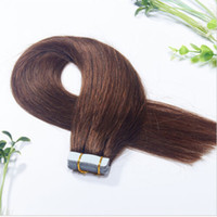 Wholesale 7A grade brazilian tape hair g PU skin weft human hair extensions in stock