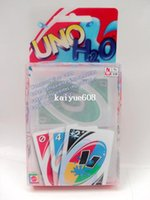 Wholesale Transparent Waterproof UNO H2O Card Game Playing Card Family Fun